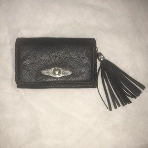 Elliot Luca Italian leather-wallet Black tassel